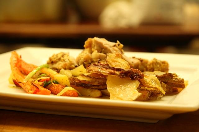 Ris de veau en croûte de sésame sauce au porto